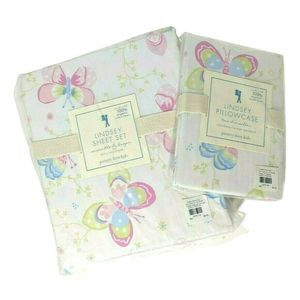 Pottery Barn Twin Lindsey Butterfly Sheet Set